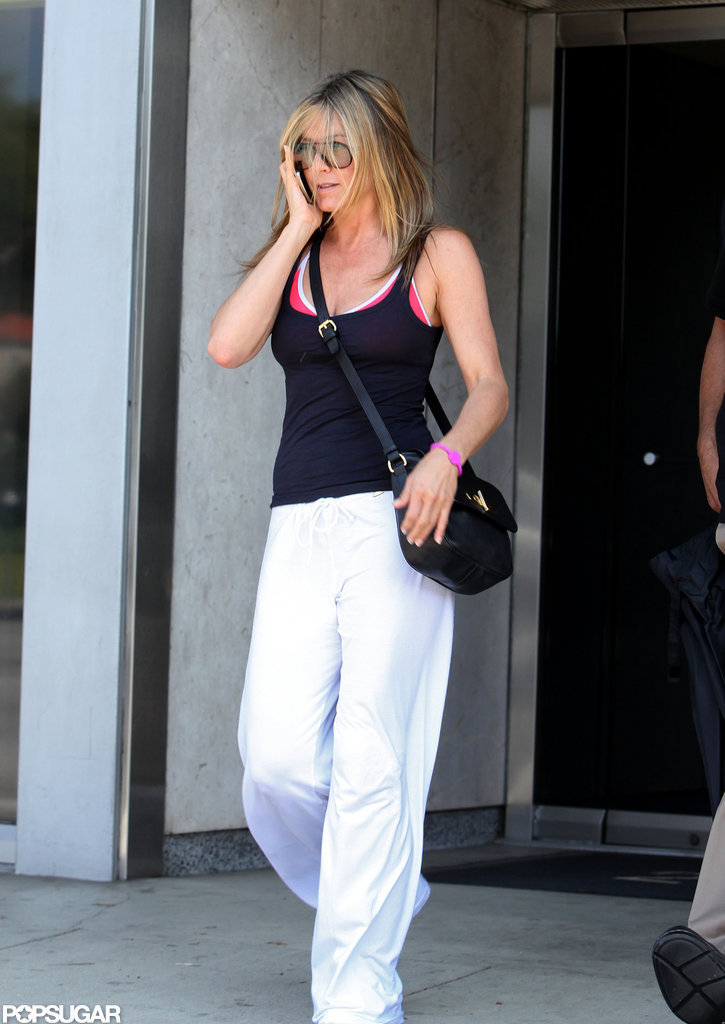 Jennifer Aniston worked out in LA.
