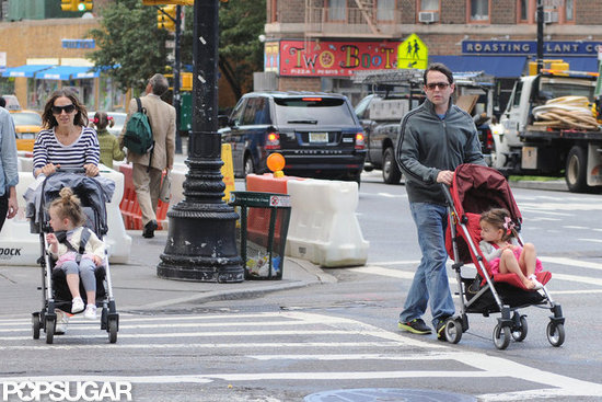 Sarah Jessica Parker and Matthew Broderick used the crosswalk in NYC.
