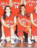Britney Spears, number 25, was a star on the basketball court.