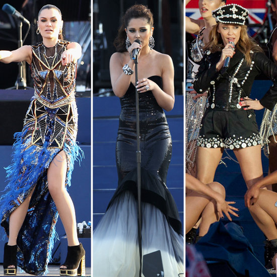 Cheryl Cole, Jessie J, Kylie at Queen Diamond Jubilee Concert