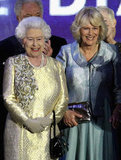The queen stood beside Camilla at the Diamond Jubilee Concert at Buckingham Palace.
