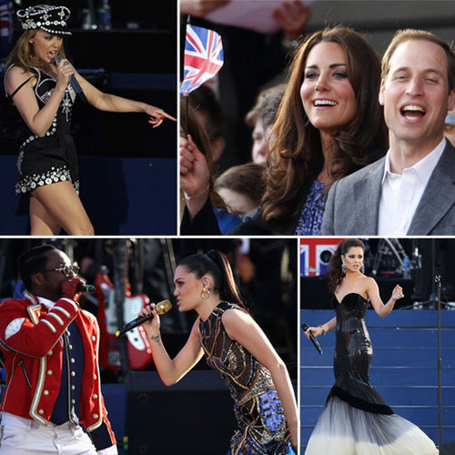 All the On-Stage Style from the Queen's Jubilee Concert: Kylie Minogue, Cheryl Cole, Elton John & More!
