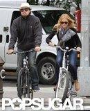 Leonardo DiCaprio and girlfriend Erin Heatherton biked around NYC together.