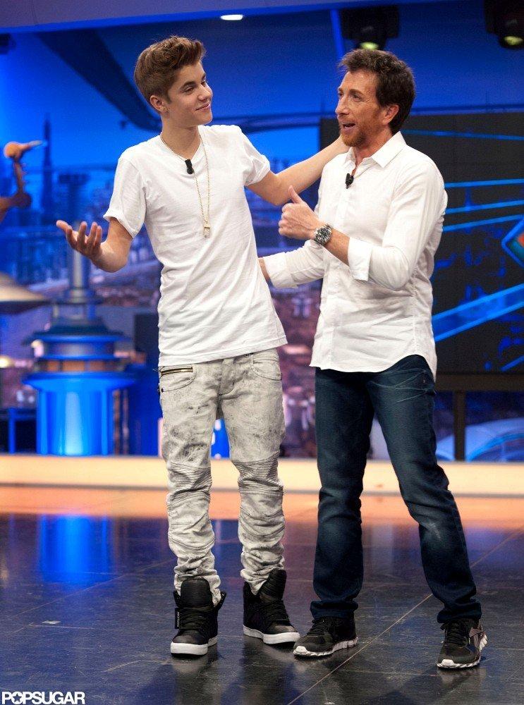 Justin Bieber joked around with the host of El Hormiguero.