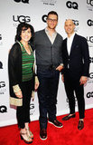 Tom Brady posed with Connie Rishwain and Chris Mitchell of Ugg at the opening of Ugg For Men in NYC.