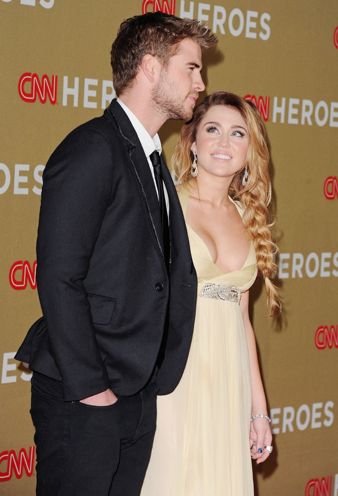 Miley Cyrus and Liam Hemsworth were together in December 2011 for the CNN Heroes event in NYC.