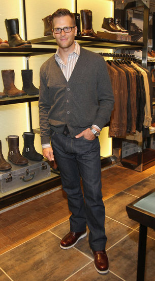 Tom Brady check out the store at Ugg For Men in NYC.