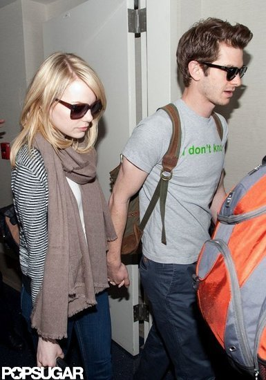 Emma Stone and Andrew Garfield Travel Together Hand in Hand