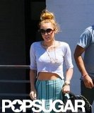 Miley Cyrus pictured with her engagement ring.
