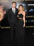 Miley Cyrus and Liam Hemsworth were together for the LA premiere of The Hunger Games in March 2012.