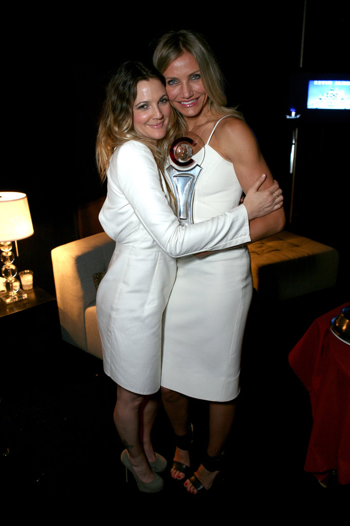 Drew Barrymore and Cameron Diaz's friendship was cemented on the set of the first Charlie's Angels film in 2000. Cameron was a guest at Drew's 2012 wedding.