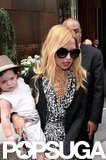 Rachel Zoe and Skyler spent the day in NYC.