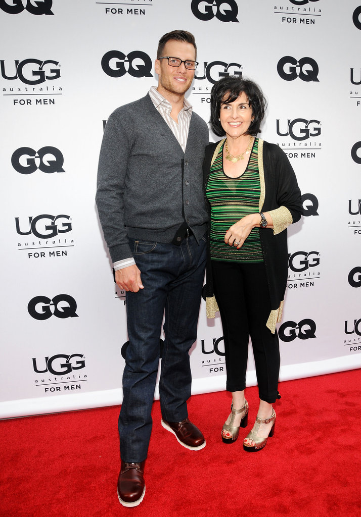 Tom Brady got together with the president of Ugg Australia, Connie Rishwain, at the opening of Ugg For Men in NYC.