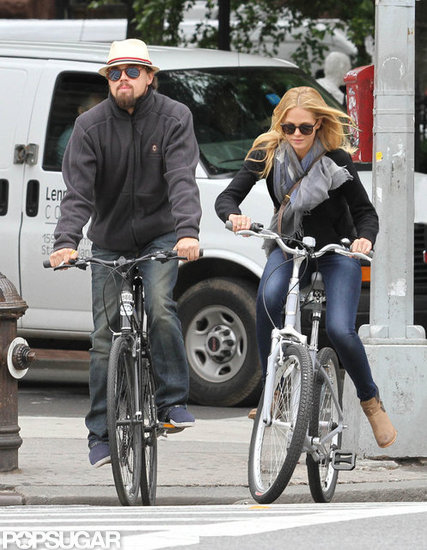 Leonardo DiCaprio and Girlfriend Erin Heatherton Meet Up For a Ride