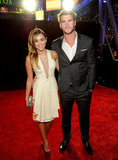 Miley Cyrus and Liam Hemsworth hit the red carpet for the People's Choice Awards in January 2012.