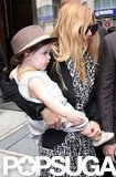 Rachel Zoe carried baby Skyler in SoHo.