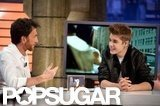 Justin Bieber chatted with the host of El Hormiguero in Madrid.