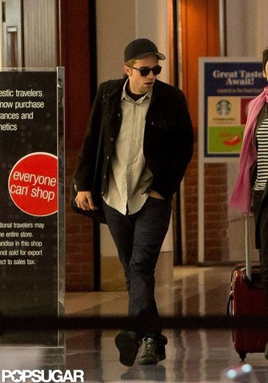 Robert Pattinson landed at LAX.