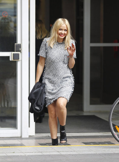 Lara Bingle Is All Smiles After an Appearance on The Project