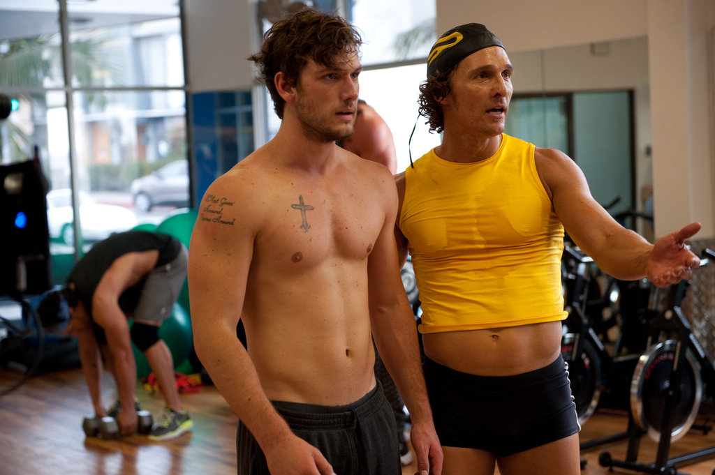 Alex Pettyfer and Matthew McConaughey in Magic Mike.