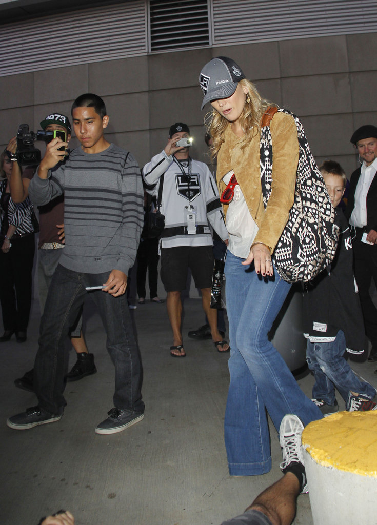 Kate Hudson left the LA Kings Stanley Cup finals game in LA.