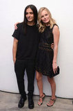 Kate Bosworth posed with designer Olivier Theyskens in one of his designs at the Whitney Art Party in NYC.