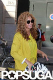 Beyoncé Knowles carried a black and white bag on her way back to the hotel in Paris.