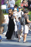 David Beckham and Victoria Beckham supervised their kids at Disneyland.