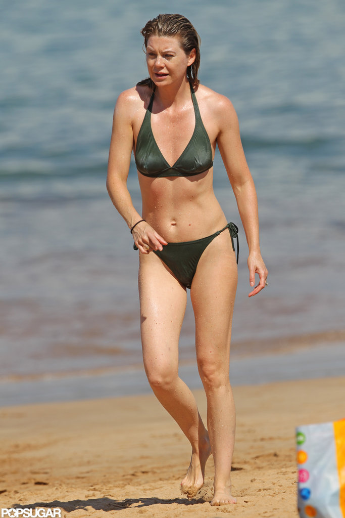 Ellen Pompeo pictured in a bikini in Hawaii.