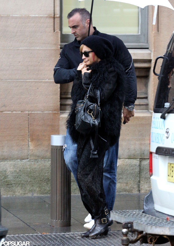 Nicole Richie wore all black out and about in Australia.