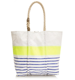 Each of these adorable bags is made by hand from reclaimed sails — and if that doesn't sway you into buying it, the bold neon stripe and rope-tie handle definitely will. Sea Bags For J.Crew Medium Tote ($165)