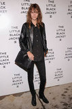 Freja Beha kept it cool in all black, pulled together with a leather jacket and an oversize Chanel shoulder bag.