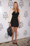 Lily Donaldson dressed up an LBD with a creamy blazer and bow-adorned pointed-toe pumps.