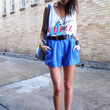 Take Note — 10 Street Stylers Perfect Retro Cool in High-Waisted Shorts