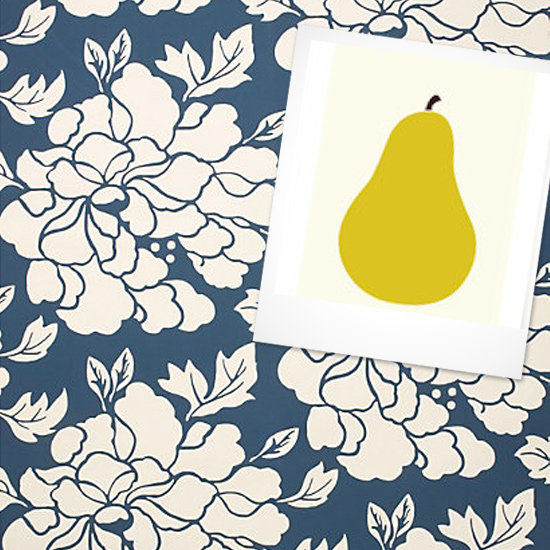 Print: Heirloom Pear ($40-$375) Wallpaper: Paeonia Wallpaper ($148)