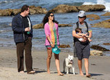 Matthew McConaughey held onto Levi while walking on the beach in Malibu with Camila Alves and a friend in April 2009.
