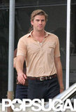 Liam Hemsworth looked handsome as always on the set of his next film.