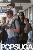 Levi and Vida were traveling companions for Matthew McConaughey and Camila Alves at LAX in June 2011.