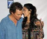 Matthew McConaughey and Camila Alves shared a moment at the September 2008 premiere of Surfer Dude in Malibu.