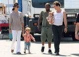 Camila Alves brought Levi and Vida to visit Matthew McConaughey on set in LA in January 2011.