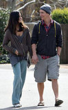 Matthew McConaughey and Camila Alves went for a walk near their Malibu home in February 2009.