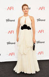 Mena Suvari wore a black and white gown to the AFI Life Achievement Award dinner honouring Shirley MacLaine in LA.