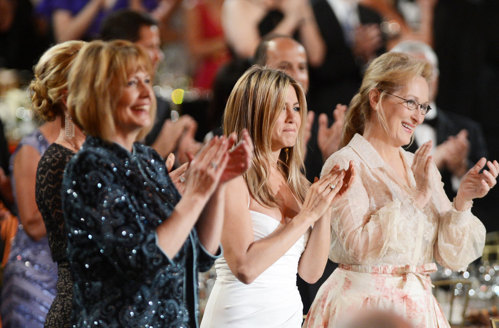 Jennifer Aniston and Meryl Streep applauded at an AFI gala.