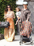 Matthew McConaughey, Camila Alves, Levi, and Vida stepped out in Malibu in April 2010.