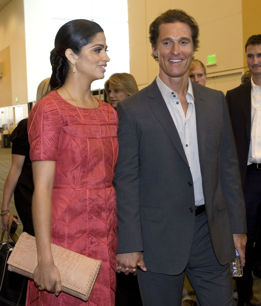 Matthew McConaughey and Camila Alves met First Lady Michelle Obama during a visit to San Francisco in June 2009.