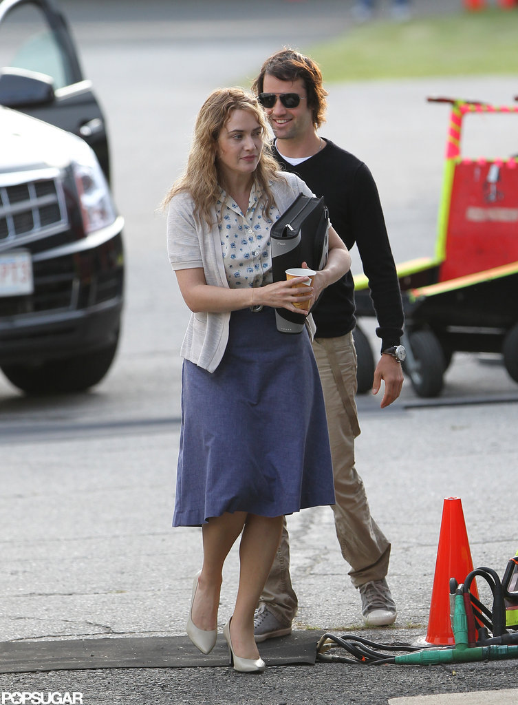 Ned Rocknroll visited Kate Winslet on the set of Labor Day.