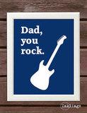 Dad Rocks Printable Poster