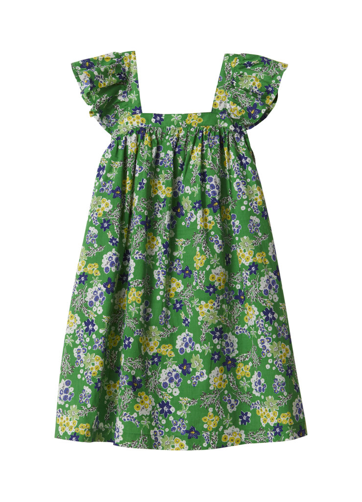 Garden Flower Petite Flutter Dress ($125)