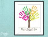 Personalized DIY Child's Handprint Tree