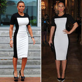 Mel B and Alicia Keys in Stella McCartney Monochrome Dress